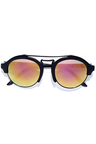 Great Idea Black and Pink Mirrored Sunglasses