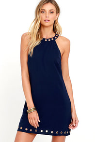 image What a Stud Navy Blue Dress