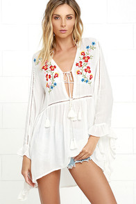 Glamorous Peaceful Pastures Ivory Embroidered Top at Lulus.com!