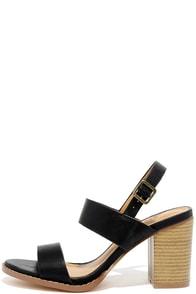 Divino Black High Heel Sandals Image