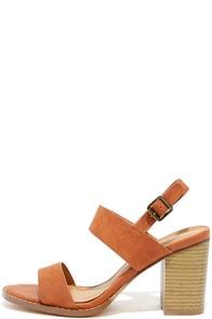 Divino Cognac High Heel Sandals
