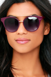 In the Moment Burgundy Sunglasses