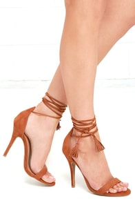Higher Ground Chestnut Brown Suede Lace-Up Heels