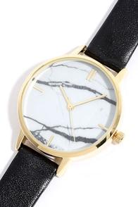 image Carrara Gold and Black Watch