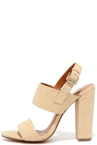 Fay 1 Beige High Heel Sandals