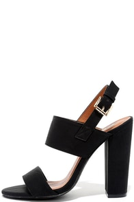 Fay 1 Black High Heel Sandals
