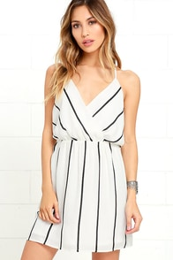 Next Time Ivory Striped Dress