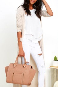 Wing-Woman Brown Handbag