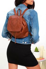 Billabong Crawford Brown Vegan Leather Backpack