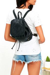 Billabong Crawford Black Vegan Leather Backpack