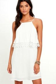 image Flamenco Fling Ivory Lace Dress