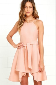 C/MEO Two Can Win Peach Dress