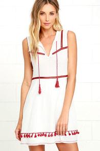 Somedays Lovin' River Ivory Embroidered Dress
