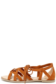 Return to Rome Tan Gladiator Sandals