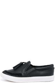 Steve Madden Ellery Black Slip-On Sneakers