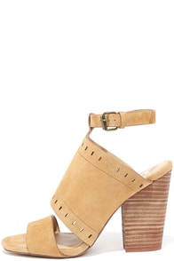 image Joe's Jeans Christie Tan Suede Leather Heels