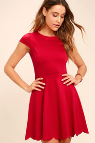 image Proof of Perfection Red Skater Dress