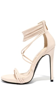 Haute and Heavy Nude Dress Sandals
