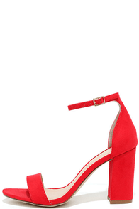 image Madden Girl Beella Red Ankle Strap Heels