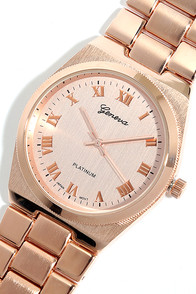 Time Crunch Rose Gold Watch