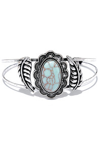 Let It Go Turquoise and Silver Bracelet