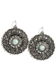 Best in Glow Turquoise and Silver Earrings