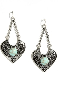 Mountain Viewpoint Turquoise and Silver Earrings