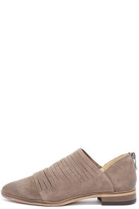 Chinese Laundry Danika Taupe Suede Leather Booties