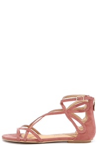 Chinese Laundry Penny Sunset Rose Suede Gladiator Sandals Image
