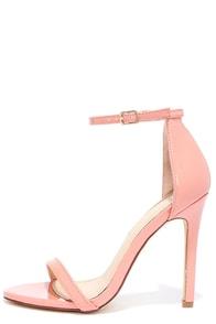 image VIP Ticket Blush Patent Ankle Strap Heels