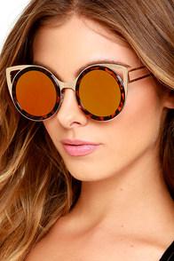 image Future Insight Tortoise and Gold Mirrored Sunglasses