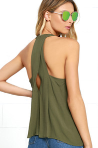 Morning Lullaby Olive Green Top