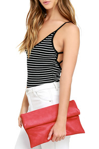 image My Specialty Coral Red Clutch