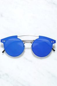 Spitfire Trip Hop Blue Mirrored Sunglasses