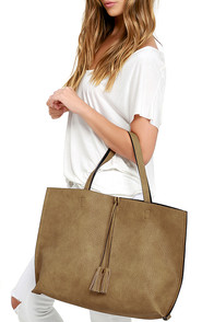image Officially Chic Black and Tan Reversible Tote