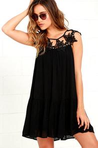 Unforgettable Black Lace Dress