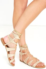 image All This and More Gold Gladiator Sandals