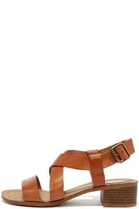 image Steve Madden Lorelle Cognac Leather Heeled Sandals