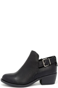 Great Trait Black Ankle Booties