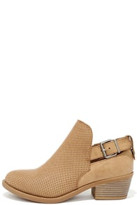 image Great Trait Tan Ankle Booties