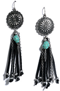 image Rivers and Valleys Black and Silver Earrings