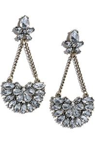 Dear Diary Gold Rhinestone Earrings