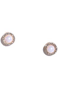 image Eternal Love Gold and Pearl Earrings