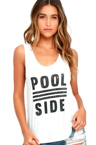 image Amuse Society Poolside Ivory Tank Top