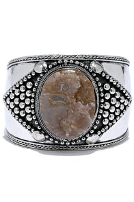 Dream About You Brown and Silver Cuff Bracelet