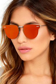 Spitfire Cyber Silver and Red Sunglasses