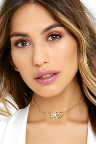 Dream to Believe In Gold Choker Necklace