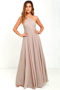 image Everlasting Enchantment Taupe Maxi Dress