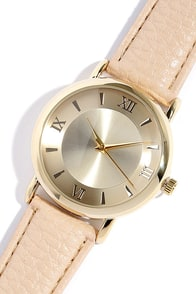 Time of the Season Gold and Beige Watch