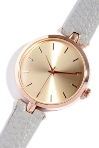 image Life and Times Rose Gold and Grey Watch